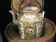Chinese Famille Rose Enamelled Porcelain Teapot with Thermal basket