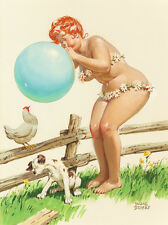 "Vintage Pin Up Hilda 11 x 14""  Photo Print"