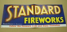 VINTAGE STANDARD FIREWORKS HUDDERSFIELD POSTER PYROTECHNIC ADVERTISING*