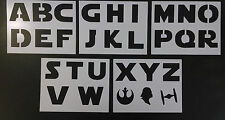 "Star Wars Font Alphabet 3"" Tall Letters 8.5"" x 11"" 5 Stencil Set FREE SHIPPING"