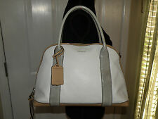 Coach Preston #30485 White Travel Bag $398 Large Coach Hang Tag