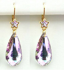 Kirks Folly ASTRAL MYSTIC CRYSTAL LEVERBACK EARRINGS Swarovski Crystals ~