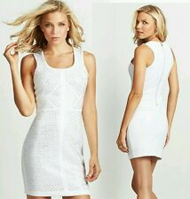 Guess Embellished White Body-con Dress