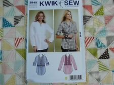 Kwik Sew 3849 misses Empire Waist tunic tops Sewing Pattern size XS-S-M-L-XL