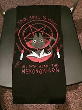 Teefury Men's XL Black T-Shirt Nekonomicon Necromicon Cats *FIXED PRICE*