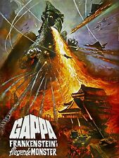 MOVIE FILM GAPPA FRANKENSTEIN MOSTER FIRE JAPAN ART POSTER PRINT LV2204