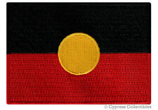 AUSTRALIAN ABORIGINAL FLAG embroidered iron-on AUSTRALIA PATCH INDIGENOUS PEOPLE