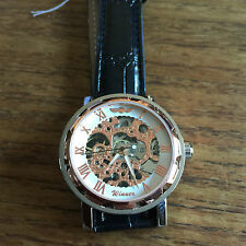 Skeleton Mechanical Mens Wristwatch W17 - Working - Fast Delivery