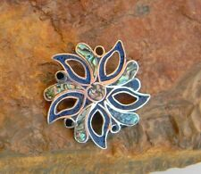 """Vintage 925 Taxco Mexico Signed """"MA"""" Brooch or Pendant Sterling Silver- Lapis"""