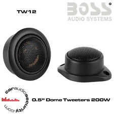 "Boss Audio TW12 - 0.5"" 4-Ohm Tweeter 200 Watts Dome Tweeters"