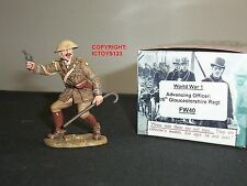 KING AND COUNTRY FW40 WORLD WAR ONE BRITISH OFFICER ADVANCING TOY SOLDIER FIGURE