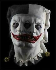 Two Face Jester Mask Clown Fancy Dress Halloween Latex Full Head Costume Zombie