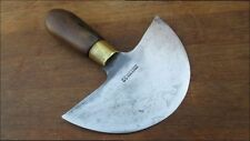 XL Antique DUMAS AINE 32 France French Saddler's Leather Cutting Head Knife