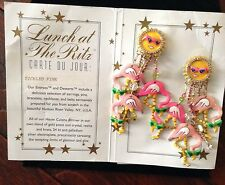 Lunch At The Ritz Tickled Pink Flamingo Sunglass Clip Earrings