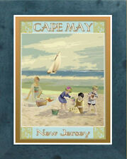 Cape May,NJ Vintage (Framed) Art Deco Style Travel Poster -by Aurelio Grisanty