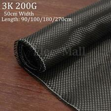 "3K 200gsm Real Plain Weave Carbon Fiber Cloth Carbon Fabric Tape 20"" x 36"""