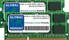 "16GB 2x8GB DDR3 1866MHz PC3-14900 204-PIN SODIMM IMAC 27"" RETINA LATE 2015 RAM"