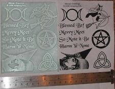 UM Sheet Wiccan Greetings by Amazing Arts 9 Stamps!