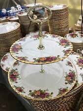 Royal Albert Old Country 2 Tier cake stand - 1st Qualità