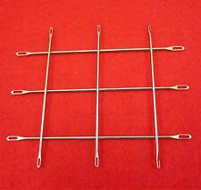 SET 2x 3 Umhängenadeln 4.5 - 5.0 u 6.3 - 9.0mm Double Eye Needles Strickmaschine