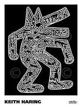 POP ART PRINT - Dog, 1985 by Keith Haring 24x18 Dancing Animal Poster