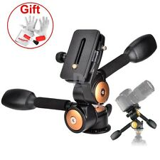 3 way Panhead Pan Head 360° scale Shooting for Tripod Camera Slider
