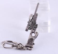Sniper rifle AWP Model Mini Weapon Gun Metal Keyring Keychain Key Ring Chain