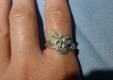 ANNEAU RING STERLING SILVER ARGENT 925 HANDMADE 53 LADY FEMME CONTE BEAUTÉ HOBBY