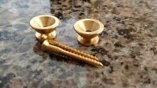 Raw Brass strap pins buttons with screws fits Charvel/Jackson