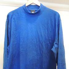 Adidas Royal Blue Mock Long Sleeve Shirt NEW Mens X-LARGE