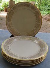 SIX Pickard Tiara Gold Dinner Plates