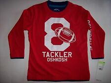 Oshkosh T-Shirt Tee Sports Football Size 4Toddler Red Tackler 8 NWT