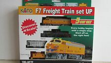 *KATO ~ UNION PACIFIC F7 FREIGHT TRAIN SET ~ LOT A ~ N SCALE