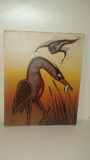 OJIBWE-ODOWA 1990 ORIG.ACRYLIC ON CANVAS BY RANDY C. TRUDEAU 1954-2013