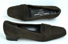 COMFORTABLE SALVATORE FERRAGAMO BROWN GENUINE SUEDE SHOES SIZE 7 AA ITALY
