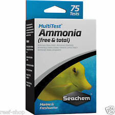 Seachem MultiTest Ammonia Test Kit Marine & Freshwater 75 Tests FREE USA SHIP!