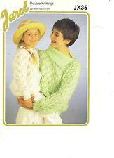 Jarol doppio Maglieria Knitting pattern di pizzo maglione con collo tagliato Collo/jx36