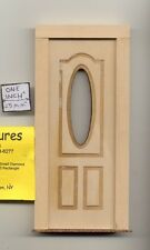 Door - Oval Window - 2313 wooden dollhouse miniature 1:12 scale Made in USA