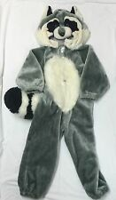 Children's/Kids Raccoon Full Body Plush Costume Halloween Costume Size Medium
