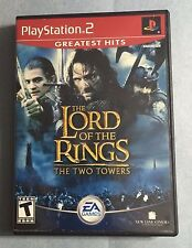 The LORD of the RINGS The TWO TOWERS PlayStation 2 PS2 -Complete =USED,3pics