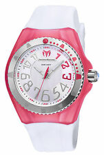 Ladies TechnoMarine Cruise White Silicone Band Pink Cover Watch TM-115225