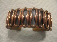 "Renoir copper 1"" high esperanza pattern bracelet 2 1/2"" wide signed"