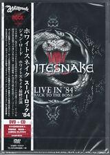 WHITESNAKE-LIVE IN ' 84: BACK TO THE BONE-JAPAN DVD+CD BONUS TRACK Ltd/Ed M13