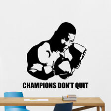 Mike Tyson Wall Decal Gym Quote Vinyl Sticker Sport Boxing Art Decor Mural 89nnn