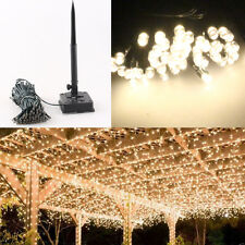 100 LED Outdoor Solar Power String Light Garden Christmas Party Fairy Lamp White