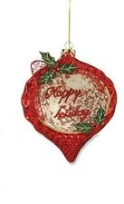 "Bethany Lowe ""Poinsettia Glass Ornament""  (Style #2)"