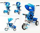 New Reverse Seat Kid Tricycle Toddler Pram Stroller Ride on Trike Control Handle