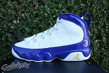 NIKE AIR JORDAN 9 IX RETRO SZ 11 KOBE LAKERS PE PURPLE WHITE YELLOW 302370 121
