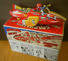 "FLASH GORDON ROCKET SHIP Tin Toy  NEW IN BOX  12"" Friction Sparking  Spaceship"