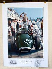 "Stirling Moss 1957 Italian Grand Prix ""Rock'n Roll Pit Stop"" Vanwall LE Print"
